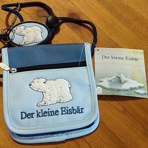 Dear Kleine Eisbar ID Wallet Necklace NWT German